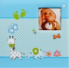 HENZO album klas. BABY MOMENTS   25x24,5 40s., modré