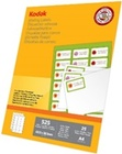 KODAK Spec. Mailing Label for WE  A4  25 sheets