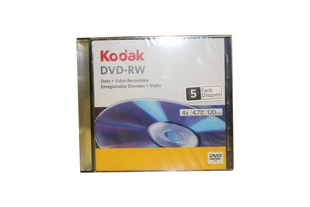 KODAK DVD-RW, 4,7GB, 4x speed, slimcase 5ks
